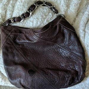 Michael Kors deep purple leather bag